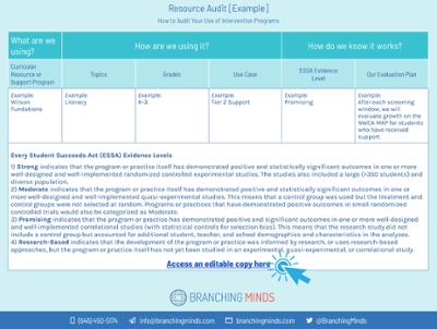 Resource Audit worksheet  2