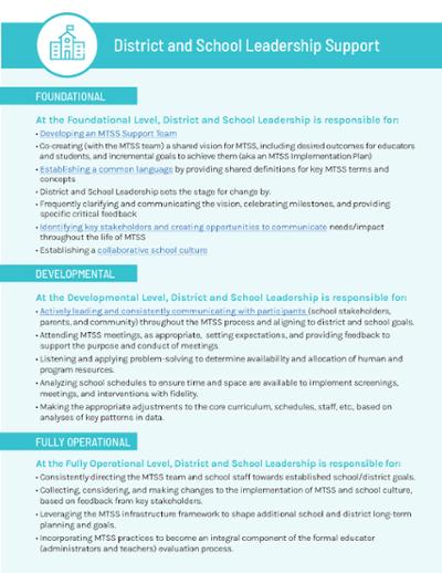 MTSS Mobilization framework