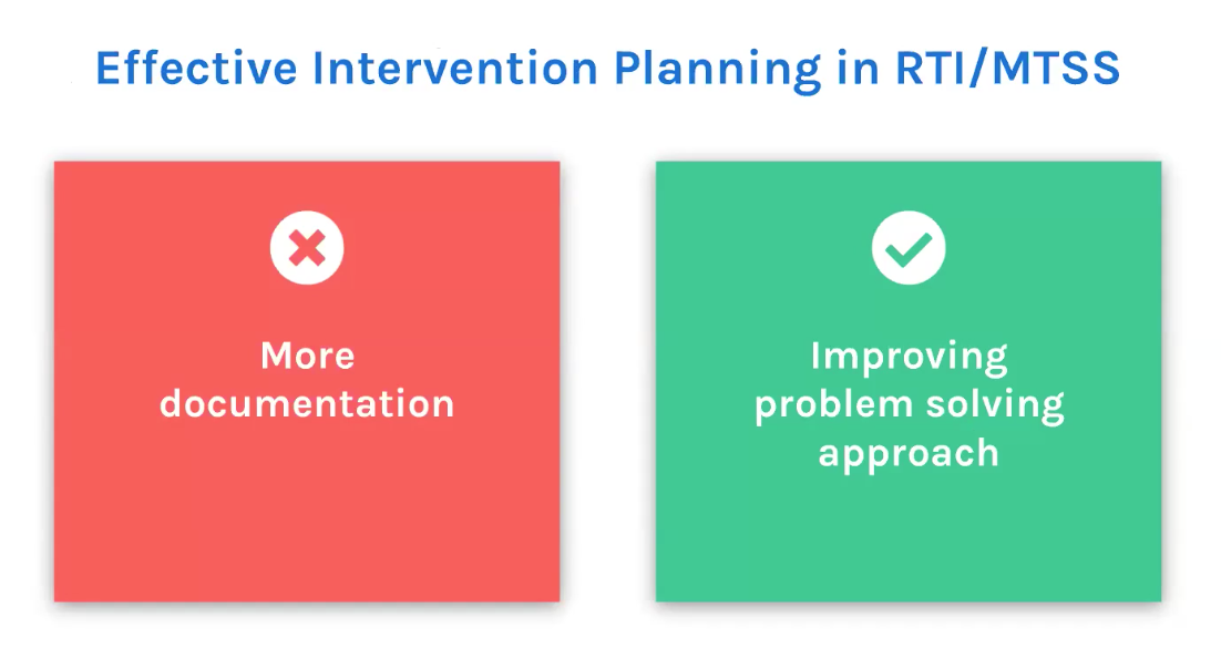 On Demand Webinar - Successful intervention planning in RTI / MTSS to improve student outcomes